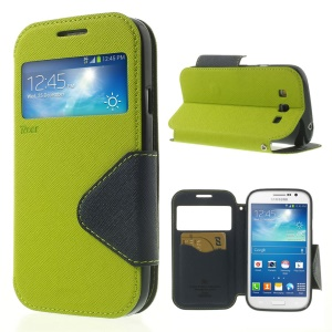 Green Roar Korea for Samsung Galaxy Grand Neo I9062 / Grand I9082 Diary View Window Leather Cover
