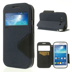 Deep Blue Roar Korea for Samsung Galaxy Grand Neo I9062 / I9082 Diary View Window Leather Shell