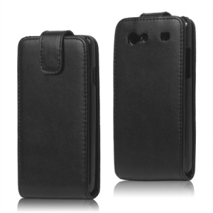Vertical PU Leather Flip Case for Samsung I9070 Galaxy S Advance;Black
