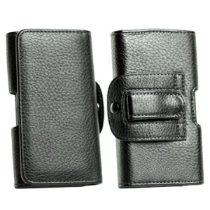 Lichee Pattern Leather Holster Belt Case for Samsung I9100 Galaxy S 2 etc Other Mobile Phone Model, Size:12.8*7*1.5cm