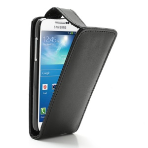 Black Vertical For Samsung I9190 Galaxy S IV S4 mini Leather Flip Case Cover