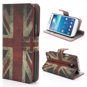 Retro UK National Flag Wallet Style Stand Case for Samsung Galaxy S4 mini i9195 i9190
