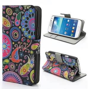 Mixed Patterns Wallet Leather Stand Case for Samsung Galaxy S4 mini i9190 i9192
