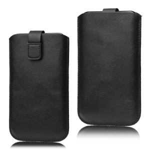 Pull Up Tab Leather Pouch Case for Samsung Galaxy Note I9220 GT-N7000 I717 / Galaxy Note II N7100