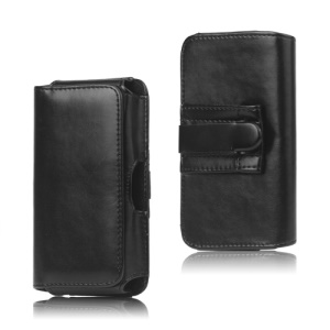 Leather Belt Clip Holster Pouch Case for Samsung Galaxy S 3 III I9300 S4 IV i9500;Black