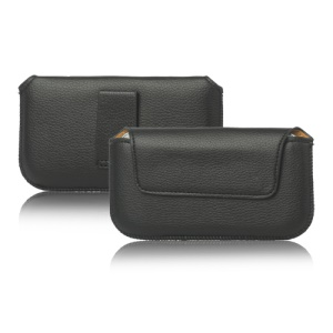 Simple Leather Belt Pouch Case for Samsung i9300 i9100 For Sony Xperia S LT26i