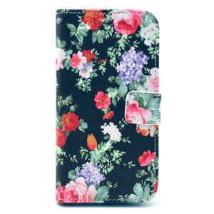 Beautiful Colorful Flowers Wallet Leather Phone Case Stand for Samsung Galaxy S3 I9300