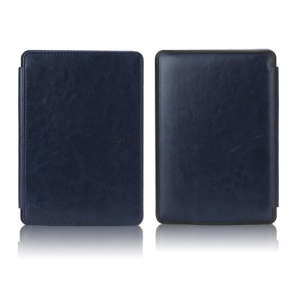NEW PU Leather Folio Case Skin Cover for Amazon Kindle Paperwhite 3 2 1 - Dark Blue