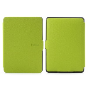 Cross Grain Leather Folio Case for Amazon Kindle Paperwhite 1 2 3 - Green