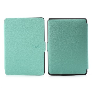 Cross Grain Protective Leather Case for Amazon Kindle Paperwhite 1 2 3 - Cyan