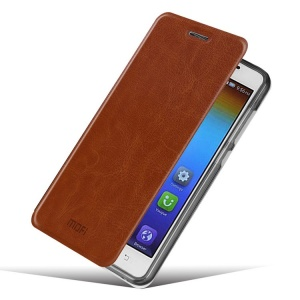 MOFI Rui Series Crazy Horse Texture Leather Stand Case Cover for Lenovo S850 - Brown