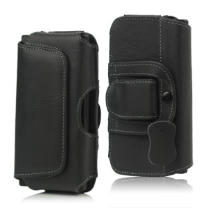 Leather Belt Clip Holster Pouch Case for Sony Xperia S LT26i LT26a / For iPhone 4 4S