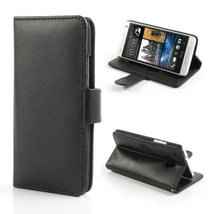 Black Card Slots PU Leather Wallet Case for HTC One Mini M4
