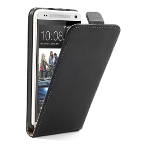 Genuine Split Leather Vertical Flip Case for HTC One Mini M4