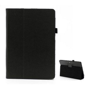 Premium PU Leather Stand Holder Case Cover for Asus MeMO Pad Smart 10 ME301T / Pad FHD 10 ME302C - Black