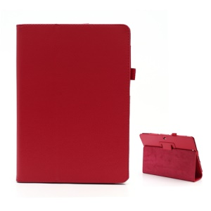 Premium PU Leather Stand Holder Cover for Asus MeMO Pad Smart 10 ME301T / MeMO Pad FHD 10 ME302C - Red