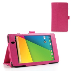 Rose for Asus Google Nexus 7 (2013) II 2nd Generation Crazy Horse Leather Stand Case