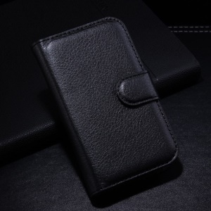 Black Litchi PU Leather Wallet Cover Stand for Alcatel One Touch Pop C1 OT-4015A OT-4015N OT-4015D OT-4015X