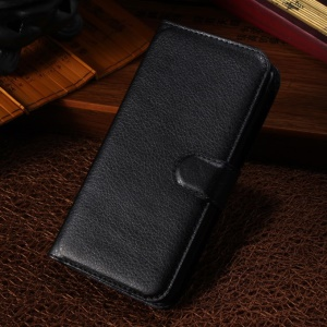 Black Lychee PU Leather Stand Case Wallet for Alcatel One Touch Pop C7 OT-7040E 7040A 7040F