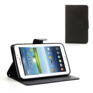 Mercury Goospery Fancy Diary Wallet Leather Stand Case for Samsung Galaxy Tab 3 7.0 P3200 P3210 - Black