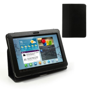 Black Slim Leather Stand Case Cover for Samsung Galaxy Tab 2 10.1 P5100 P5110
