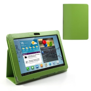 Green Slim Folio Leather Case Stand for Samsung Galaxy Tab 2 10.1 P5100 P5110