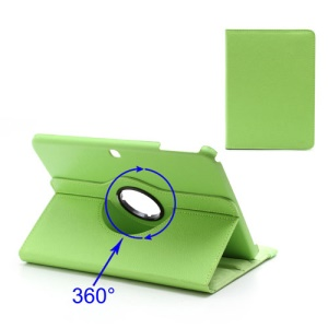 360 Degree Rotary Lychee Leather Case for Samsung Galaxy Tab 3 10.1 P5200 P5210 - Green