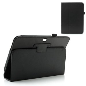 Black Litchi Leather Stand Case for Samsung Galaxy Tab 3 10.1 P5200 P5210