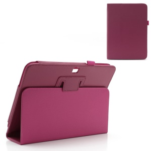 Rose Litchi Leather Stand Cover for Samsung Galaxy Tab 3 10.1 P5200 P5210