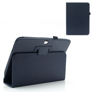 Dark Blue Litchi Leather Cover Stand for Samsung Galaxy Tab 3 10.1 P5200 P5210