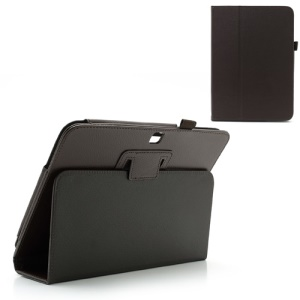 Brown Litchi Leather Case w/ Stand for Samsung Galaxy Tab 3 10.1 P5200 P5210