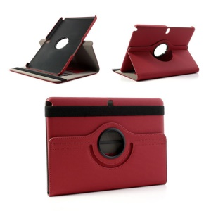 360 Degree Rotary Leather Case w/ Stand for Samsung Galaxy Note 10.1 (2014 Edition) SM-P600 - Red