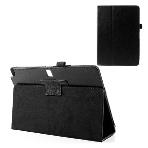 Black Lychee Leather Magnetic Case w/ Stand for Samsung Galaxy Note 10.1 (2014 Edition) SM-P600 / Tab Pro 10.1 T520 T525