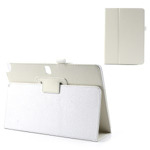 White Lychee Leather Magnetic Cover w/ Stand for Samsung Galaxy Note 10.1 P600 / Tab Pro 10.1 T520 T525