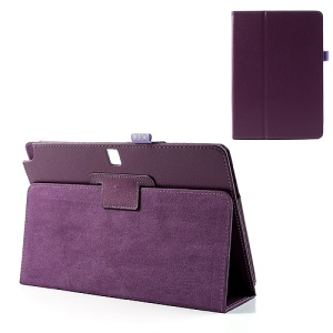 Purple Lychee Leather Cover w/ Stand for Samsung Galaxy Note 10.1 (2014 Edition) SM-P600