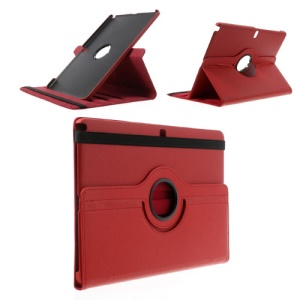 Red for Samsung Galaxy Note Pro 12.2 P900 / Tab Pro 12.2 T900 Lychee Leather Cover w/ 360 Rotary Stand