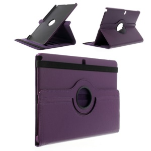 Purple for Samsung Galaxy Note Pro 12.2 P900 / Tab Pro 12.2 T900 Lychee Leather 360 Rotary Stand Case