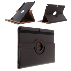 Brown for Samsung Galaxy Note Pro 12.2 P900 / Tab Pro 12.2 T900 Lychee Leather Case w/ 360 Rotary Stand