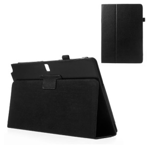 Black Flip Style Lychee Leather Stand Case for Samsung Galaxy Note Pro 12.2 P900 / Tab Pro 12.2 T900