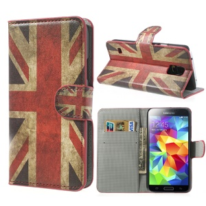 Retro Union Jack Wallet Leather Case Stand for Samsung Galaxy S5 G900