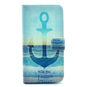 Anchor & Sea Wallet Leather Stand Cover for Samsung Galaxy S5 G900 / S5 Neo