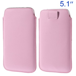 Pink Pull Tab Leather Pouch Shell for Samsung Galaxy S5 G900/ S4 I9500/ S III mini VE I8200 Etc