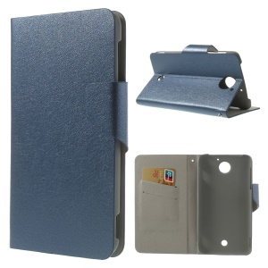 Dark Blue for Acer Liquid S2 S520 Magnetic Silk Texture Leather Flip Cover w/ Card Slots & Stand