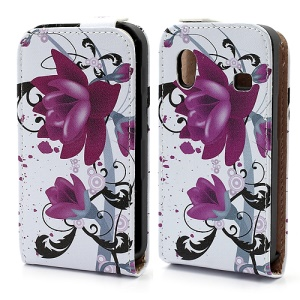 Beautiful Lotus Flower Vertical Leather Shell Case for Samsung Galaxy Ace S5830