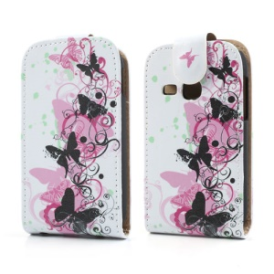 Vivid Butterflies Magnetic Vertical Flip Leather Skin Case for Samsung Galaxy Young S6310