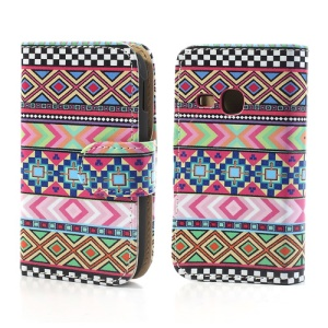 Tribal Geometric Pattern Flip Leather Case Cover for Samsung Galaxy Young S6310