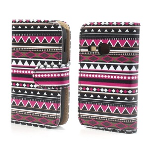 Tribal Tribe Pattern Folio Leather Protective Cover for Samsung Galaxy Young S6310