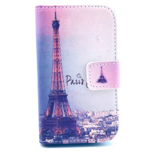 Paris Eiffel Tower Wallet Leather Stand Cover for Samsung Galaxy Fame S6810 S6810P