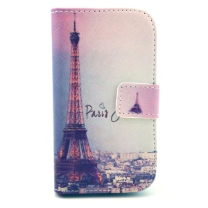 Paris Eiffel Tower Magnetic Leather Stand Cover for Samsung Galaxy Ace 3 S7270 S7272 S7275