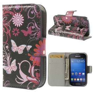 Butterfly & Flower for Samsung Galaxy Trend Lite S7390 S7392 Stand Leather Protective Cover
